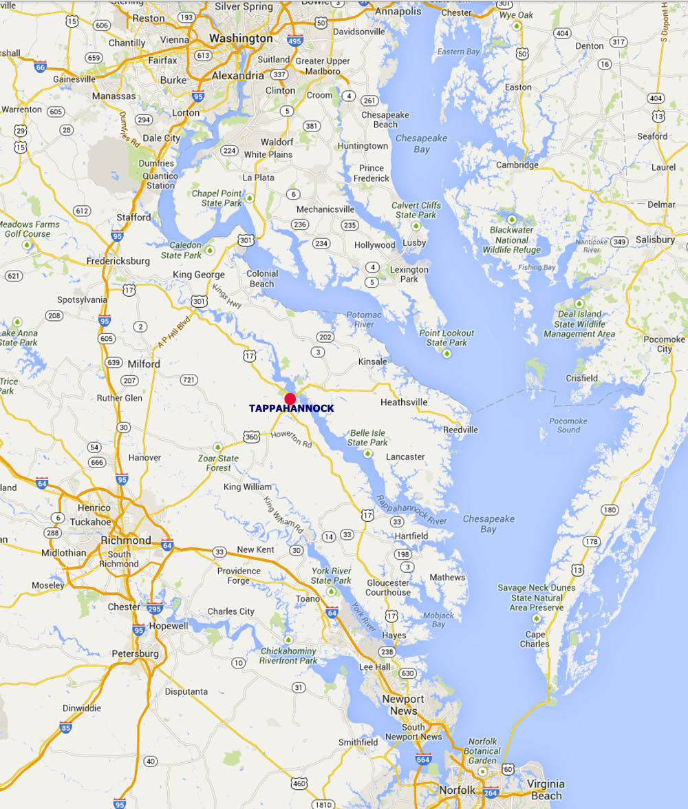 Map Washington to Richmond to Virginia Beach